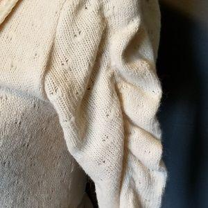 Anthropologie Tops - HAZEL Ivory Boho lace trimmed v neck blouse!